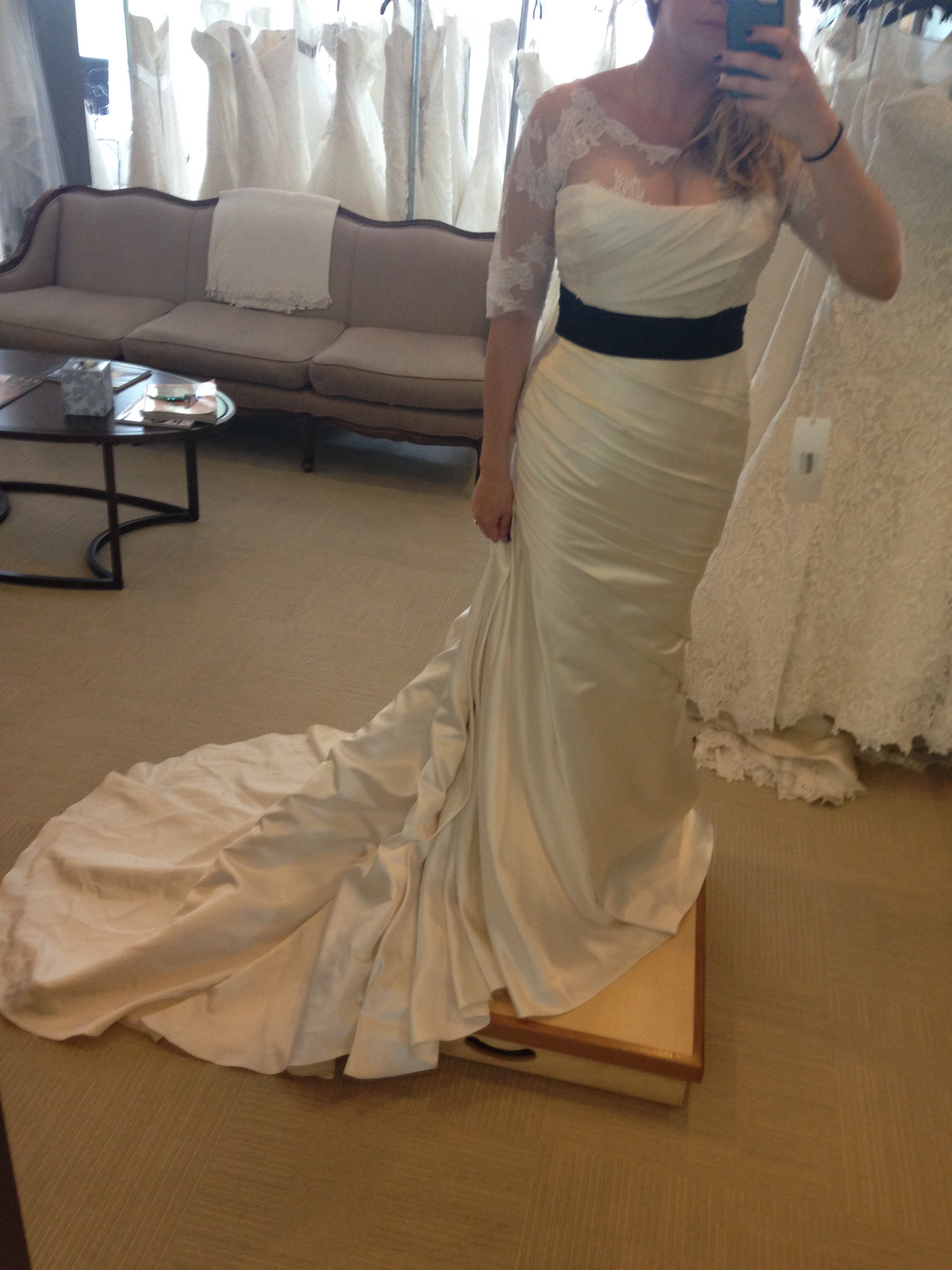 8bd4be75f4699 Trying on my dress not knowing I was a few weeks pregnant.