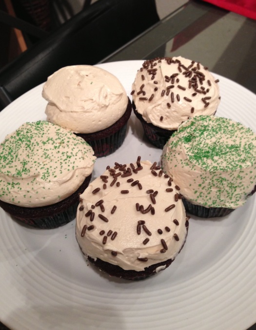 Irish car bomb cupcakes baileys guinness