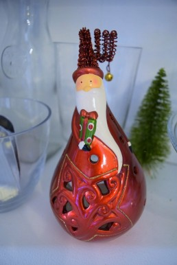 21 Pier 1 Santa Lantern Christmas Decoration
