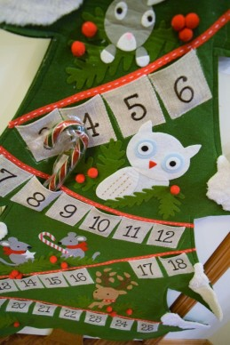 24 Pottery Barn Advent Calendar Felt Toddler Safe