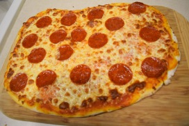 pepperoni pizza for polka dot party