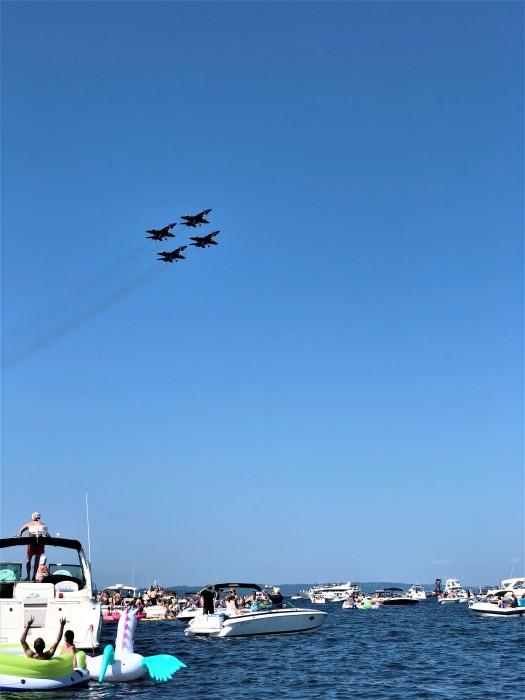 blue angel over boats lake washington seafair 5