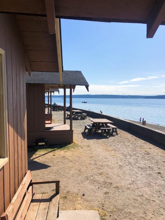 cama beach cabins waterfront view camano island