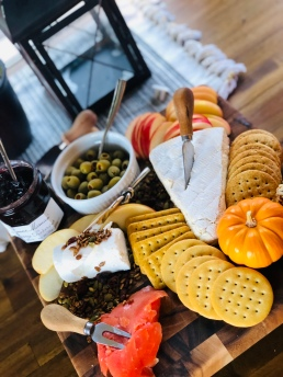 Fall charcuterie board idea 19