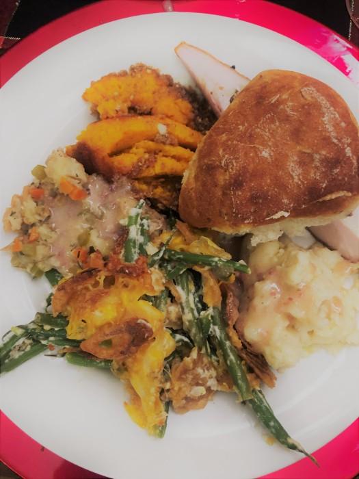 Thanksgiving dinner plate 1